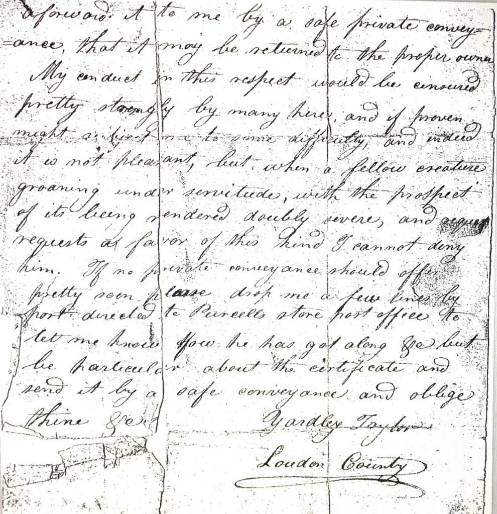 quaker underground railroad letter