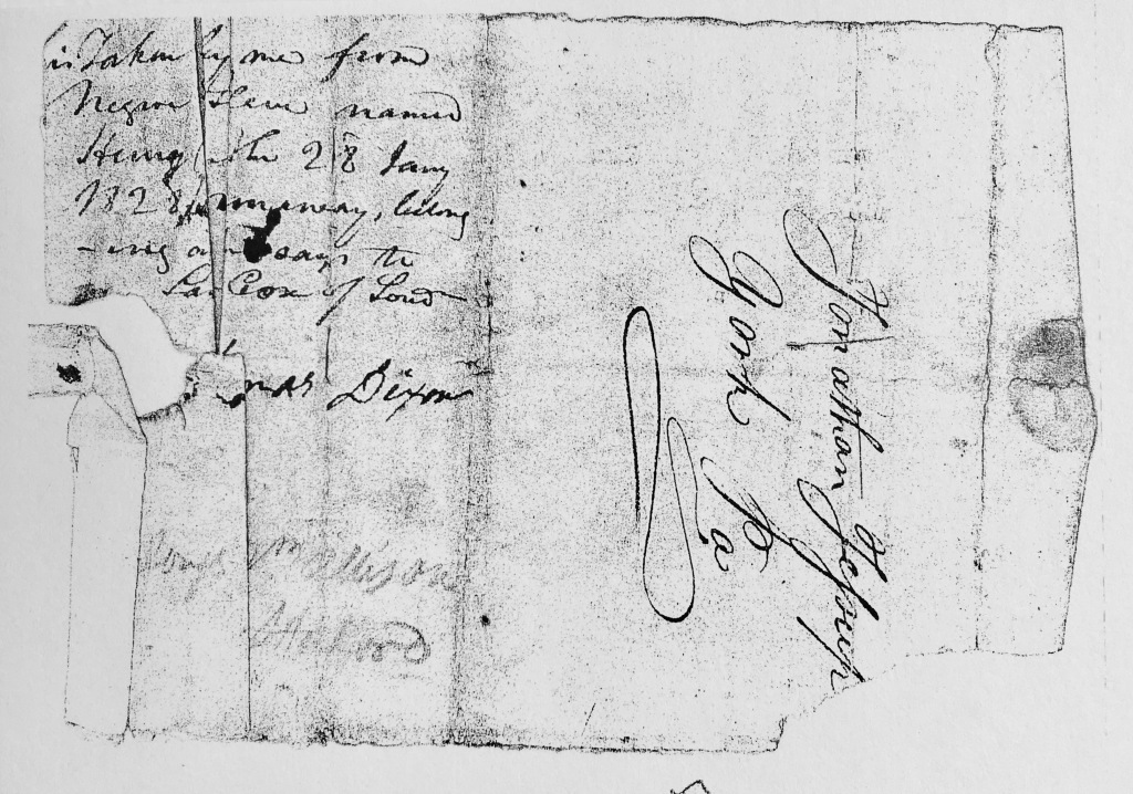 old 19th century envelop and writing