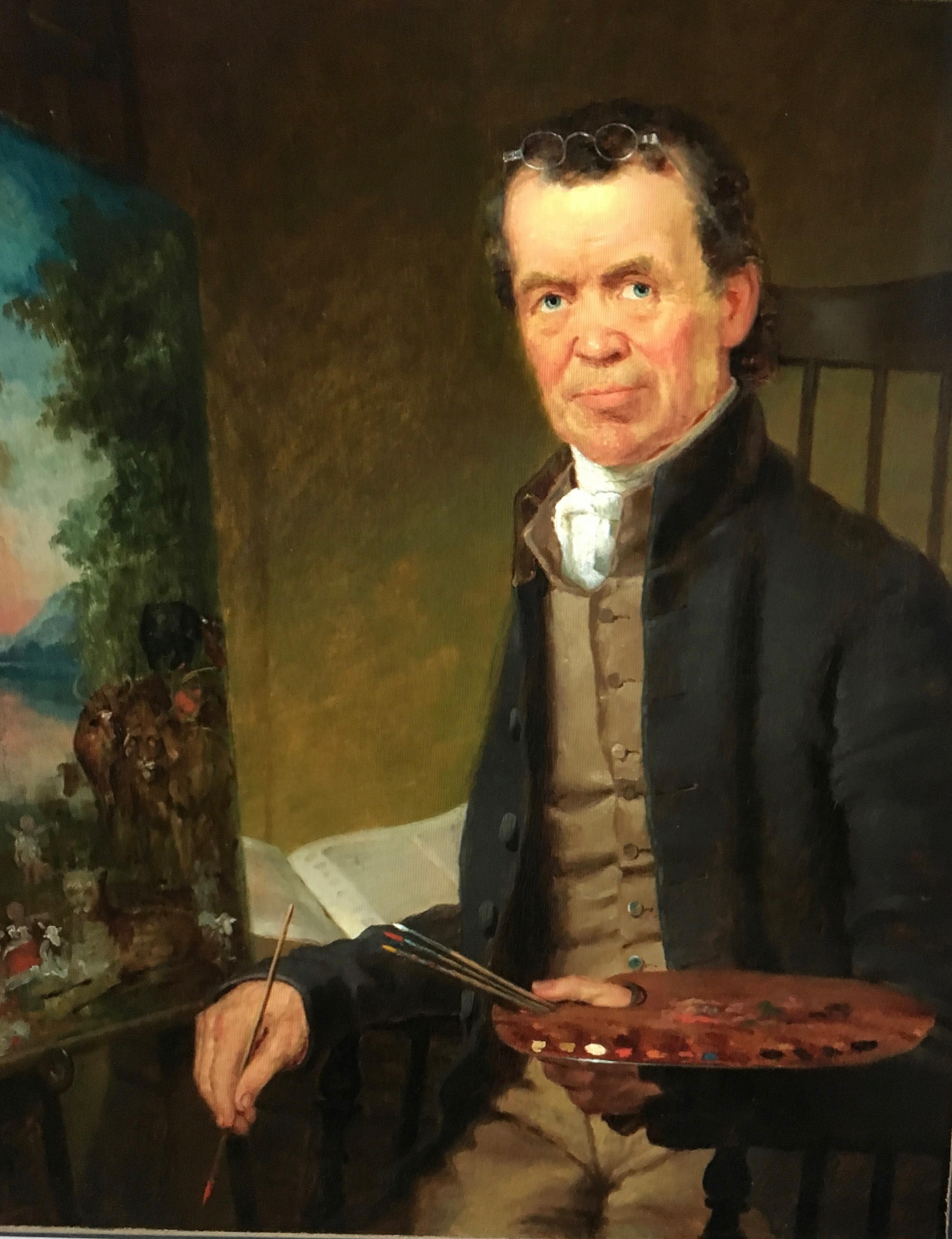 Folk artist Edward Hicks, by nephew Thomas Hicks