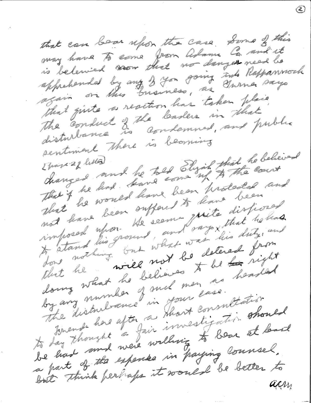 Yardley Taylor letter to Cyrus Greist page 2