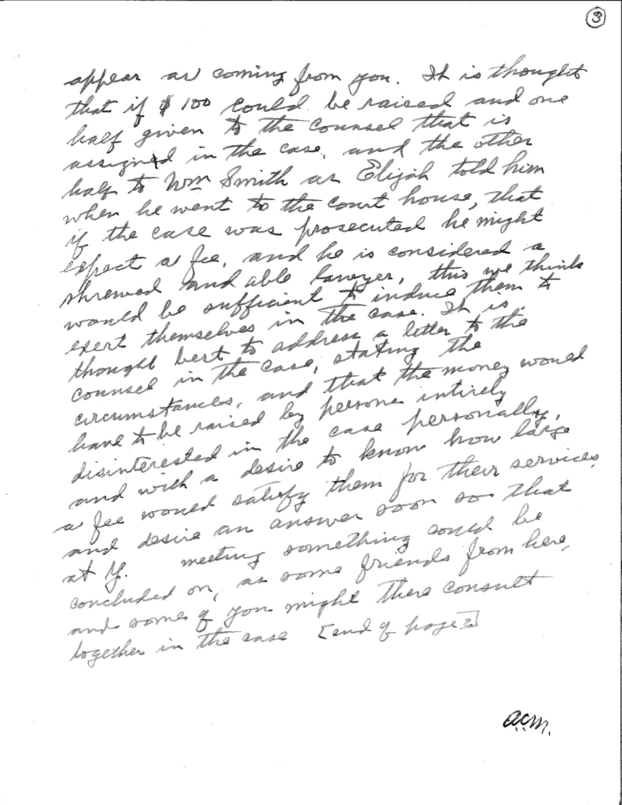Yardley Taylor letter to Cyrus Greist page 3