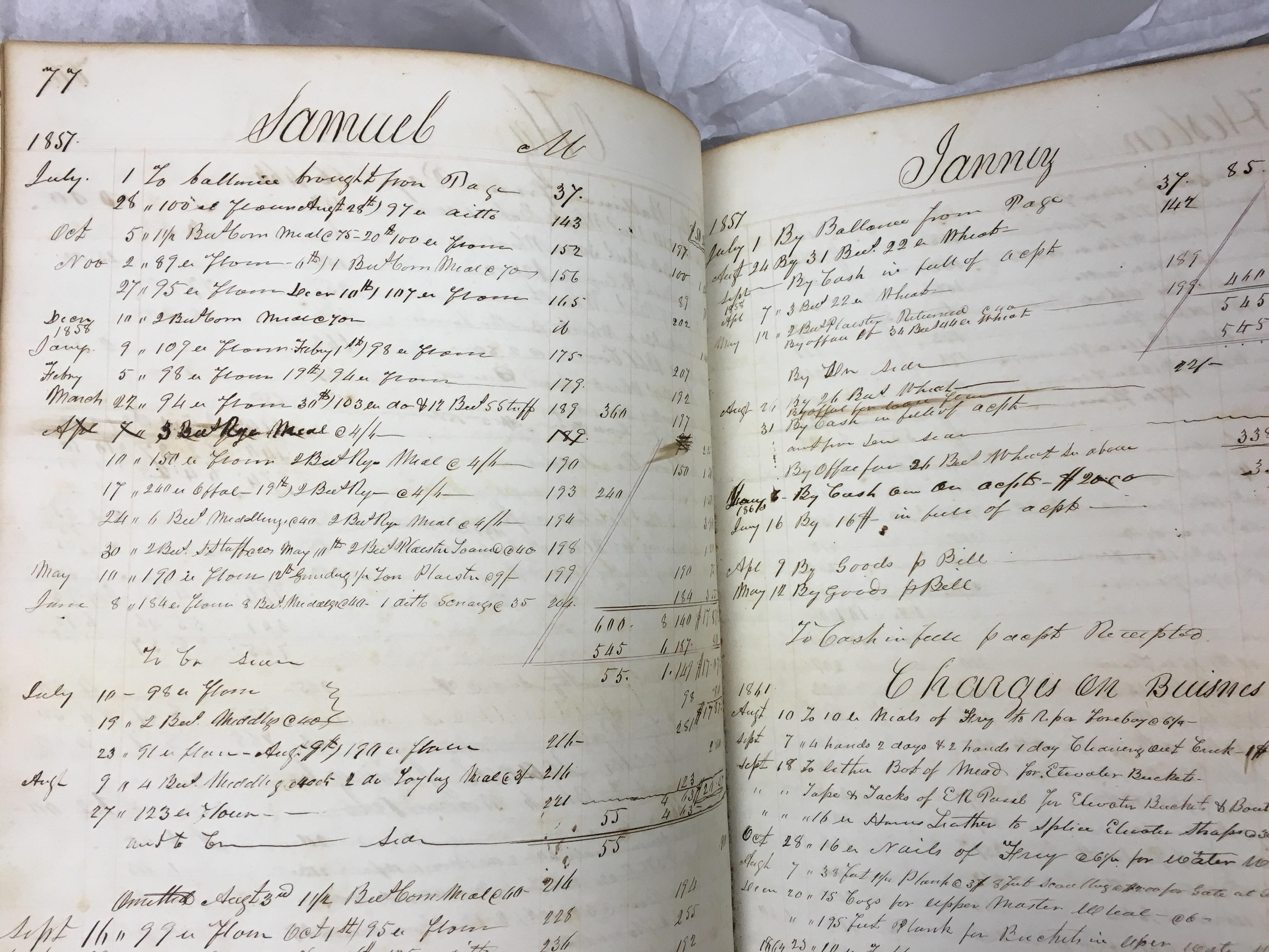 Samuel Janney 1857 mill page