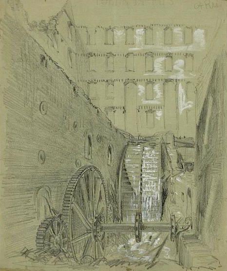 ruined water wheel at Gallegos flour mill, Richmond (1)