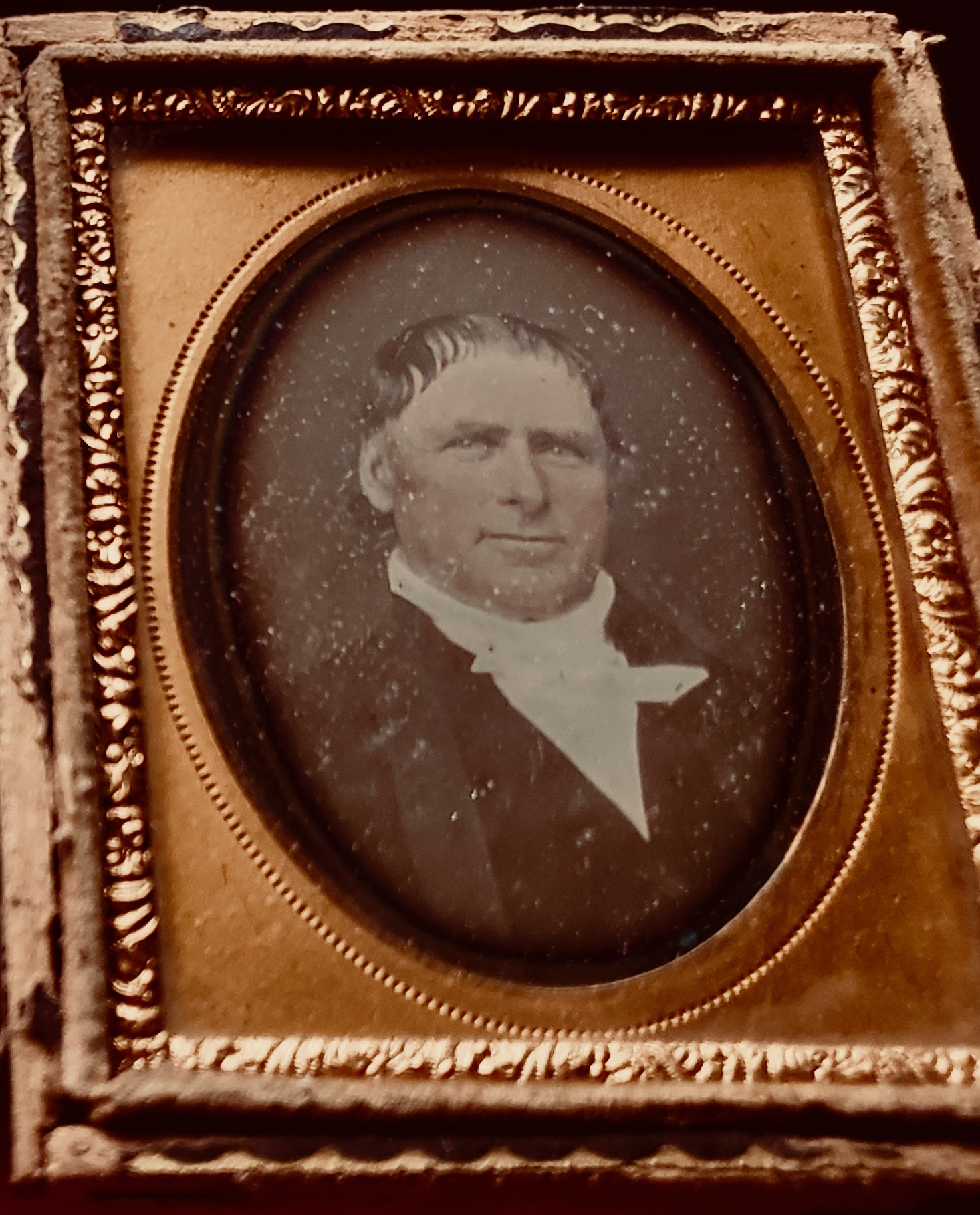 Newly discovered daguerreotype of Yardley Taylor of Loudoun County, Virginia, showing him in late middle age.