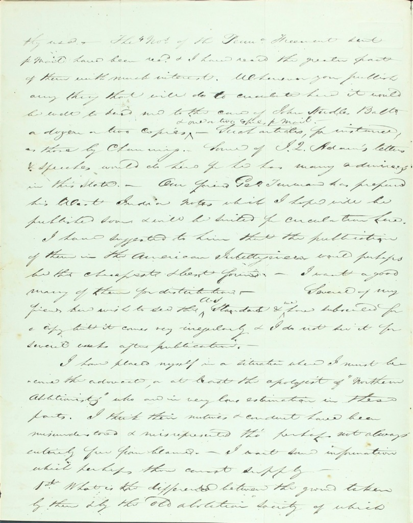 Virginia Quaker anti-slavery letter