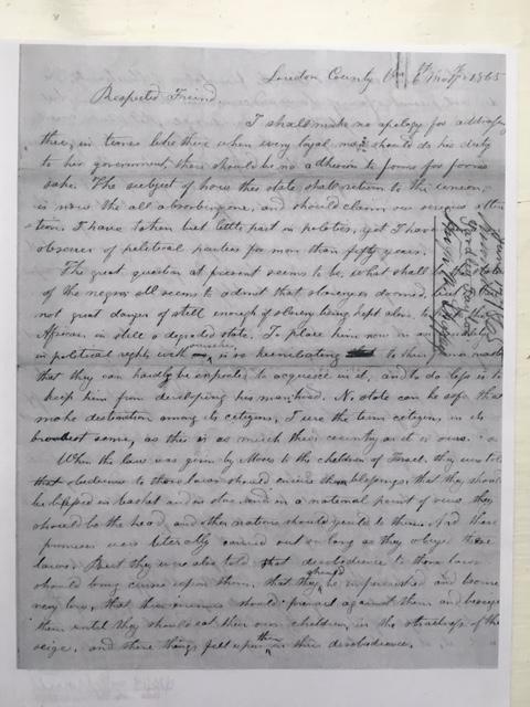 yardley taylor reconstruction 1865 lincoln virginia civil war