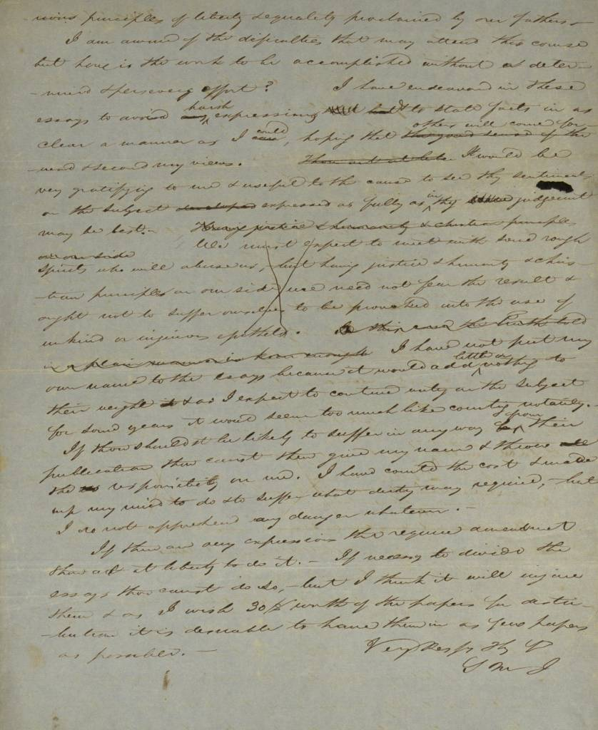 richmond whig old hand written letter 1845