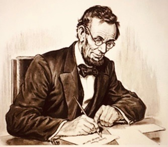 lincoln with glasses illustration
