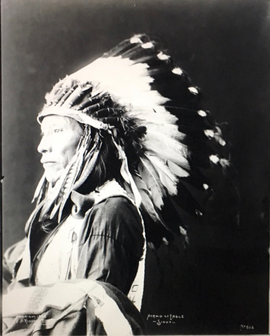 american indian photograph in native dress