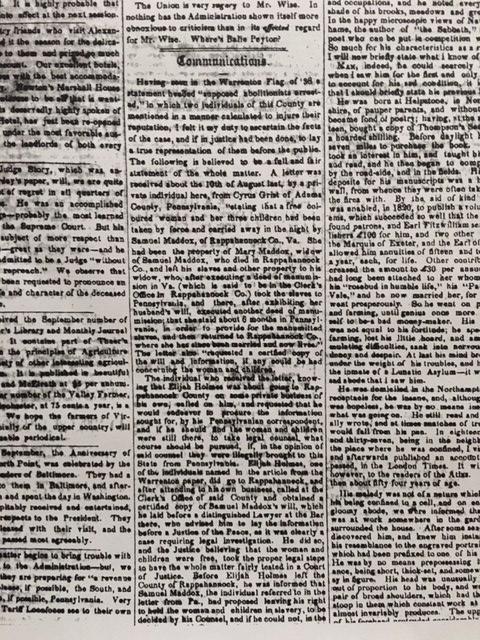 19th century quaker abolitionists in virginia