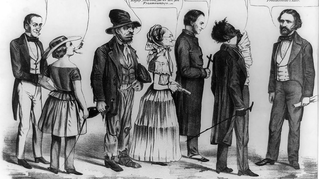 19th century American political anti-reform cartoon