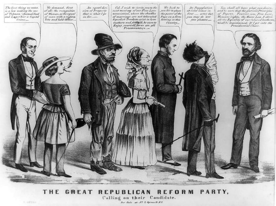 19th century American political anti-reform cartoon