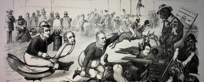 19th century American racist cartoon