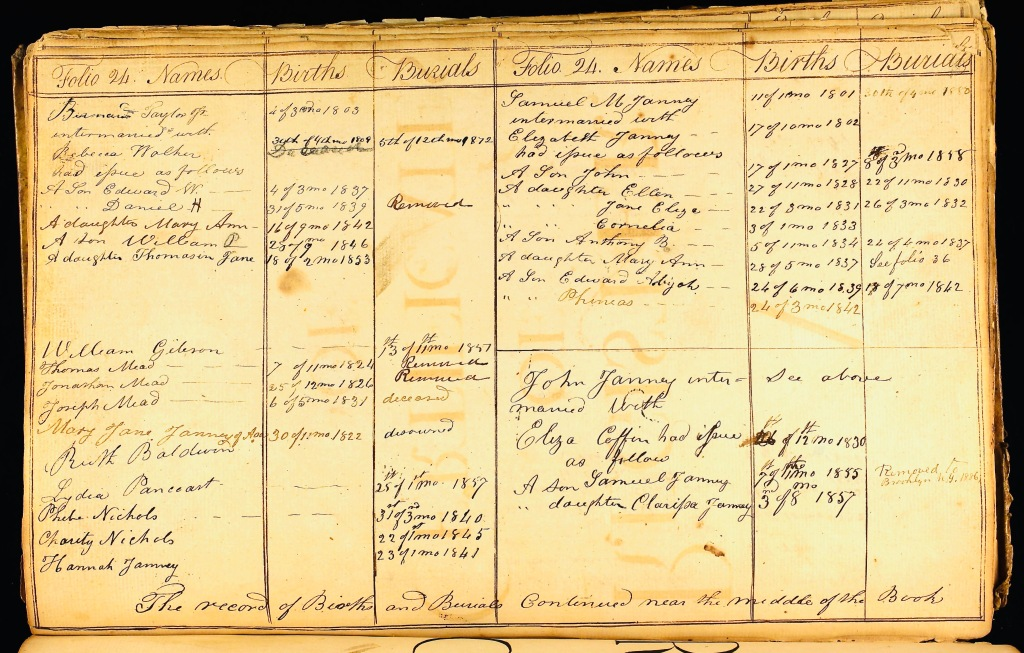 19th century Virginia quaker records