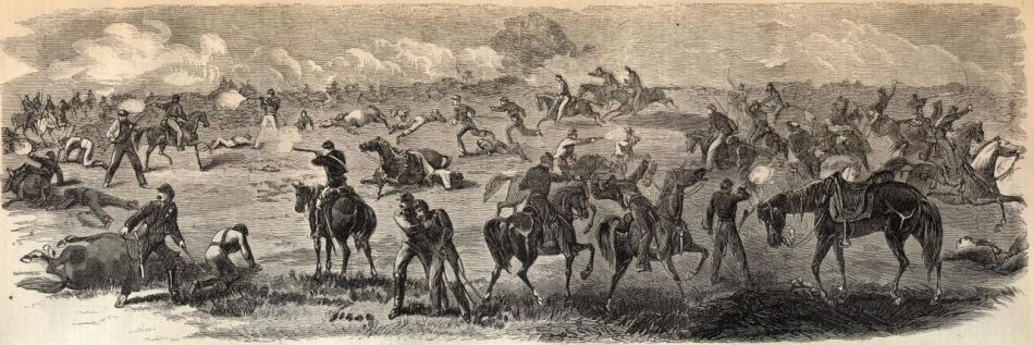 American cavalry battle illustration