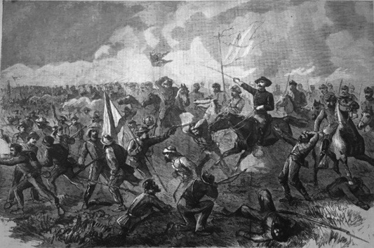 general philip sheridan in battle illustration