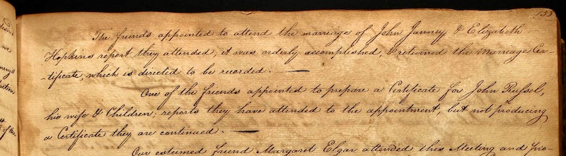 old 18th century handwritten document