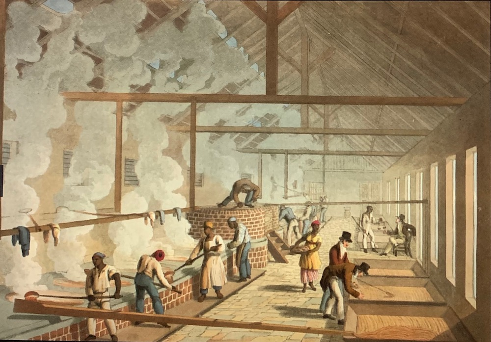 This image has an empty alt attribute; its file name is british-library-interior-of-a-boiling-house-1823-west-indies-william-clark.jpg