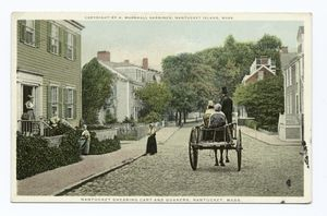 old photograph with horse and wagon