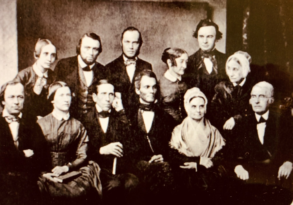 photograph of quakers and abolitionists in Philadelphia