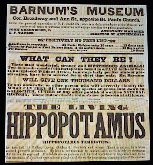 old 19th century circus poster