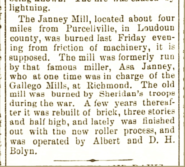 old virginia newspaper clipping about quaker mill