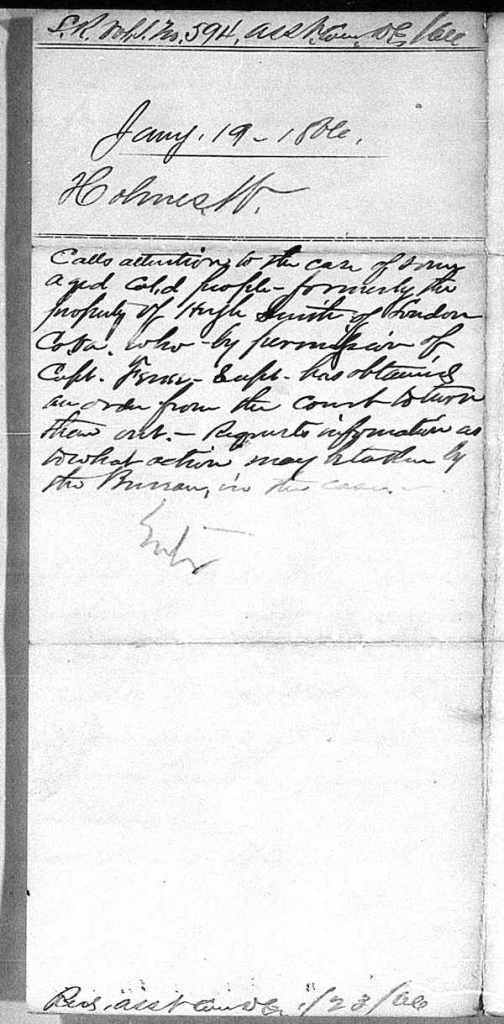 old handwritten 19th century letter