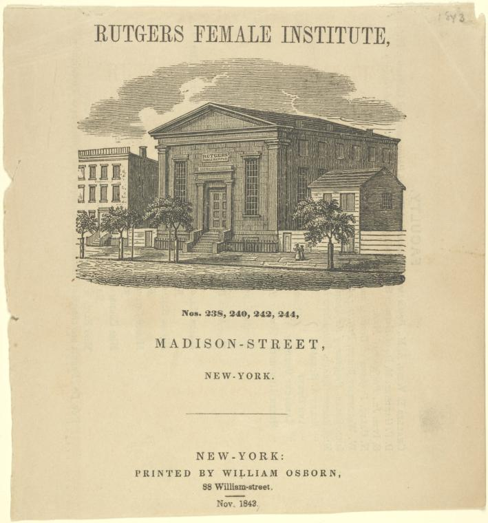 19th century women's school in new york city