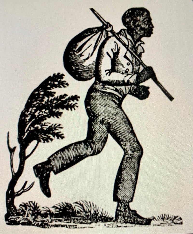 old fashioned drawing of a black man