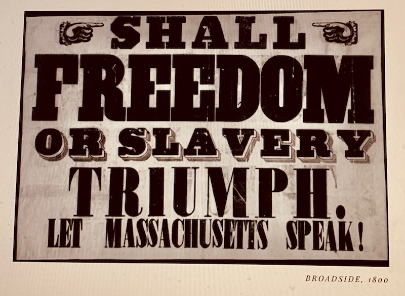 old abolitionist poster from Massachusetts