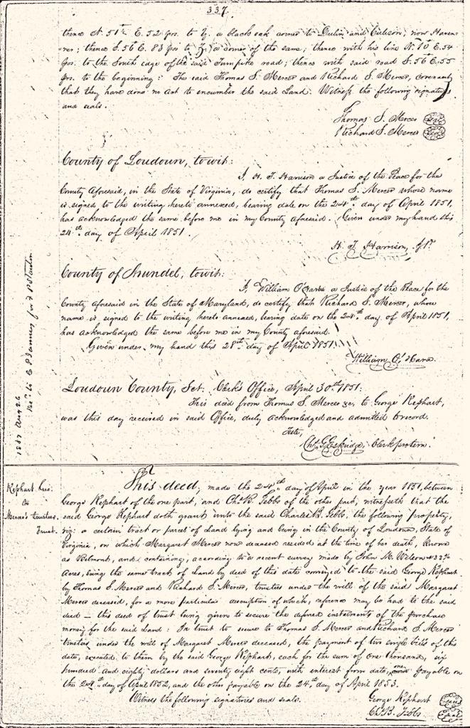 Virginia 19th century land deeds