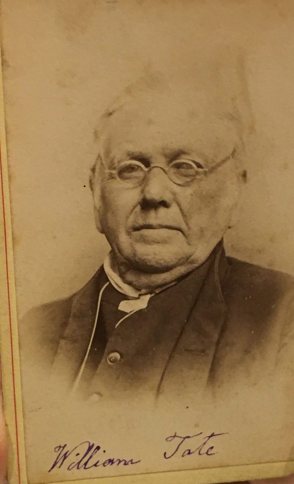William Tate, photograph courtesy of Friends Historical Library, Swarthmore College, Swarthmore, PA